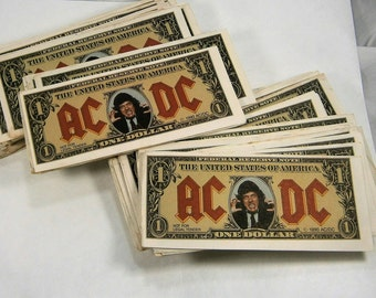 AC/DC  Money Talks / Angus Bucks / Angus Young Dollar Bills / Authentic Angus Bucks /   / Concert Memorabilia