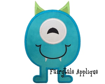 Digital Machine Embroidery Design - Marvin the Monster Applique