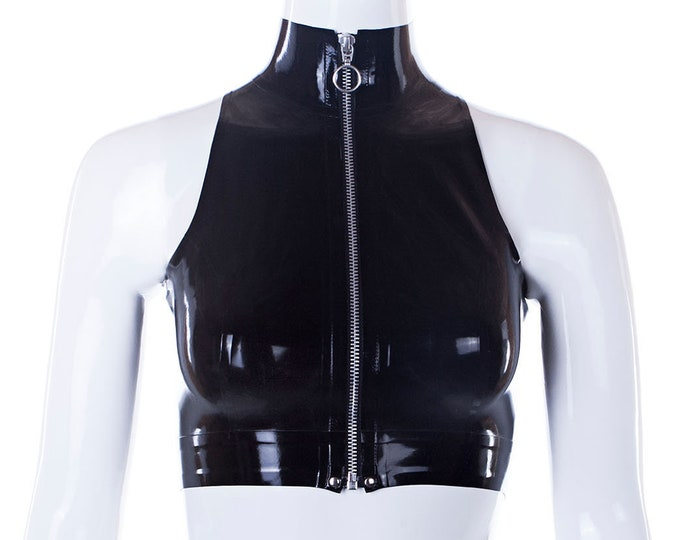 Adriana latex crop top - Ready to ship