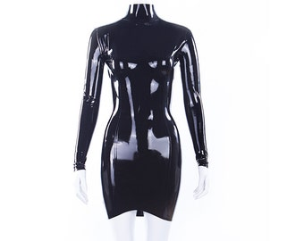 T Latex Mini Dress