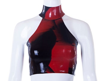 Marble Latex Kim Halter Top