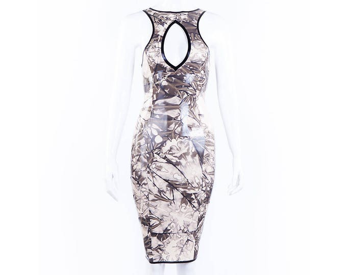 Lucy Pencil Dress With Crystal Latex