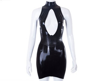 Laura Minidress With Snake Skin Textured Latex Belt