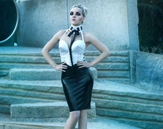 Latex Pencil Skirt - Ready To Ship