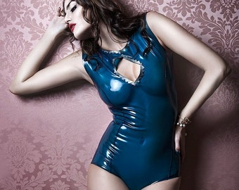 Allegra Latex Body With Scales Appliqué