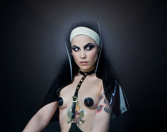 Latex Nuns Habit - Ready to Ship
