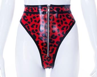 Gianna Leopard Latex Knickers