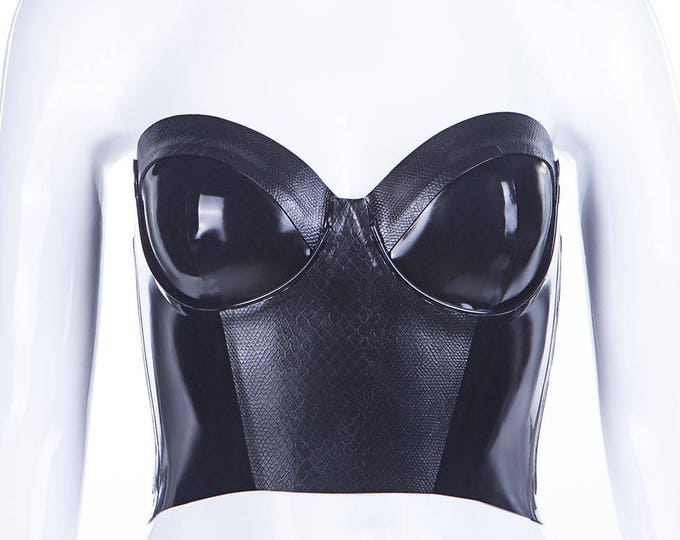 Latex Snake Texture Bustier