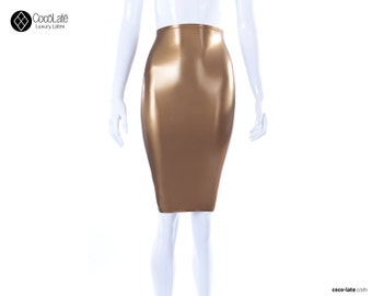 Latex Pencil Skirt Various Colors - Ready To Ship