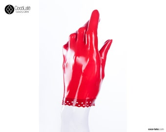 Latex Gloves With Brocade Trim