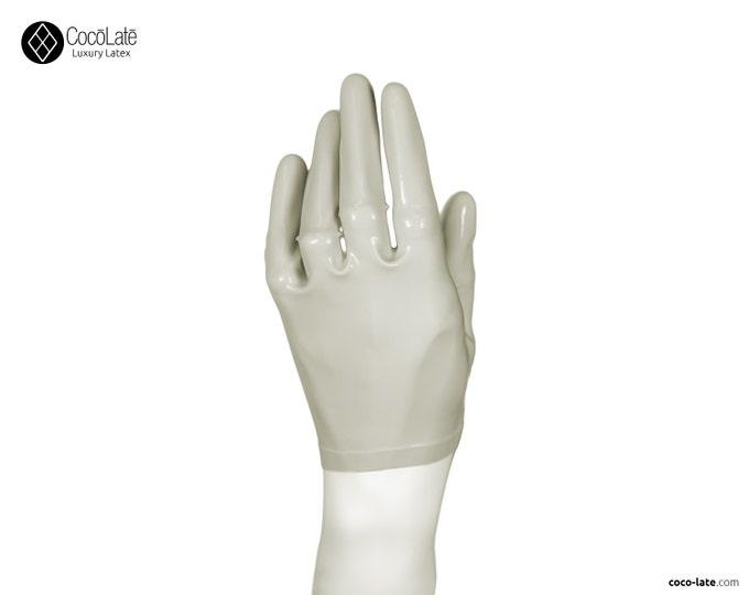 Latex Short Gloves - Off White color