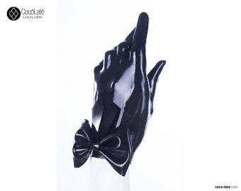 Latex Gloves With Big Bow