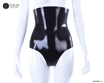 High Waist Latex Briefs