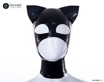 Kitty ears latex hood