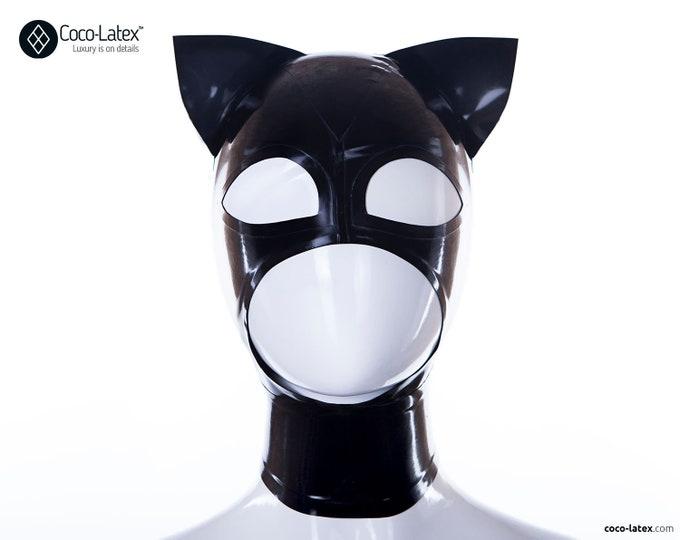 Kitty ears latex hood