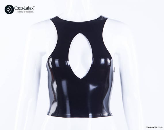 Latex Top Lucy With O Ring Zipper