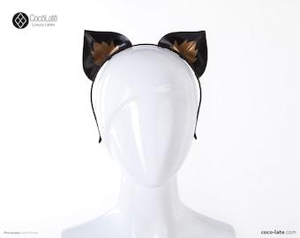 Latex Kitty Ears With Contrast Appliqué