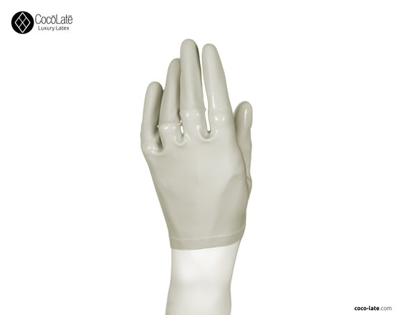 Latex Short Gloves - White color