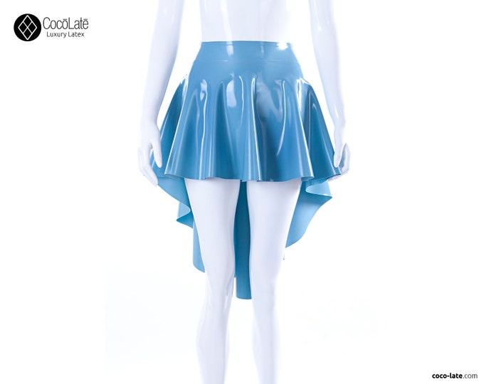 Latex Asymmetric Circle Skirt