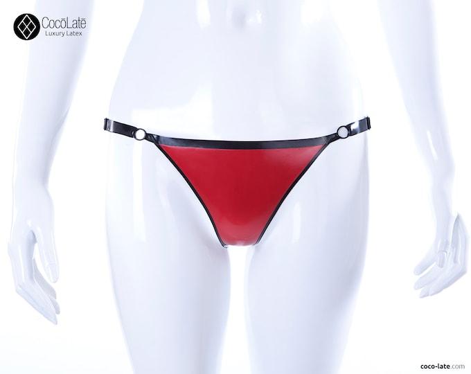 Latex Thong W/ Contrast