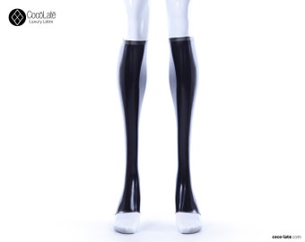 Toeless Latex Socks With Contrast