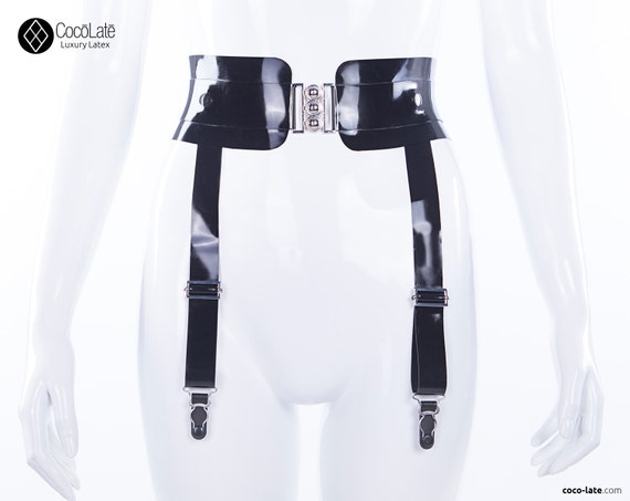 Eden Latex Belt With Suspenders