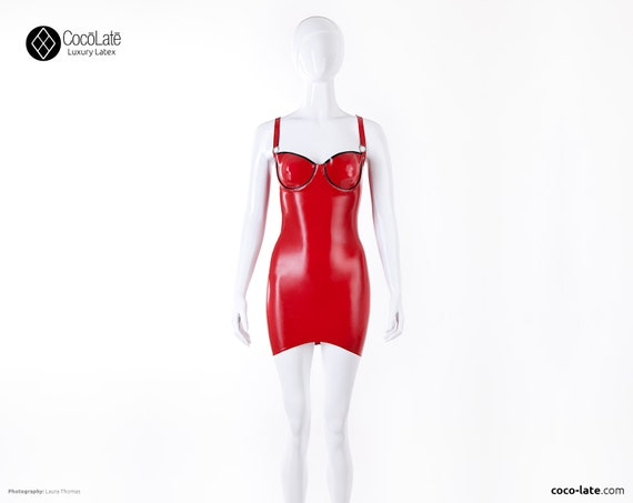 Simone Cup Latex Mini Dress W/ O Rings