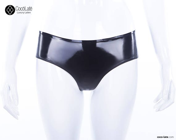 Low Waist Latex Briefs