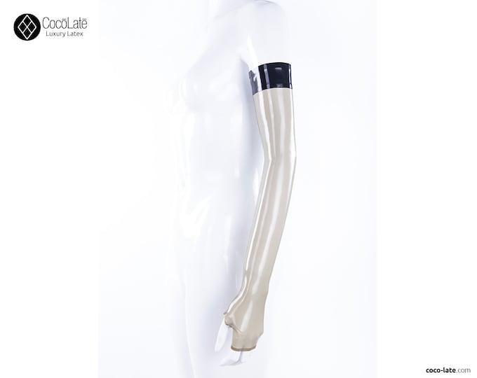 Opera Fingerless Latex Gloves W/ Contrast