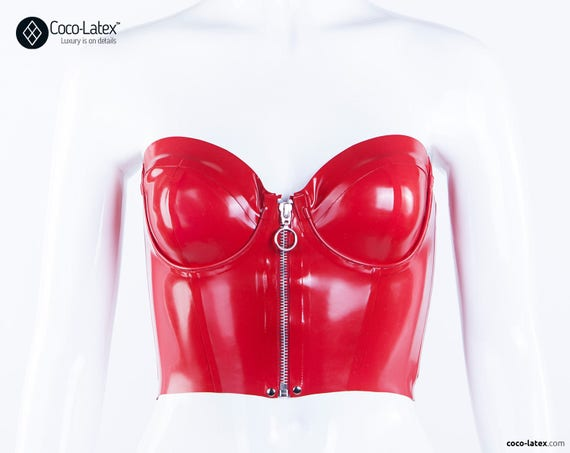 Latex Bustier With Front Zip
