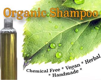 Natural Organic Herbal Shampoo | Natural Hair Care | Shikakai Shampoo | Fragrance and Chemical Free Shampoo | Shampoo for Hair Growth  375mL