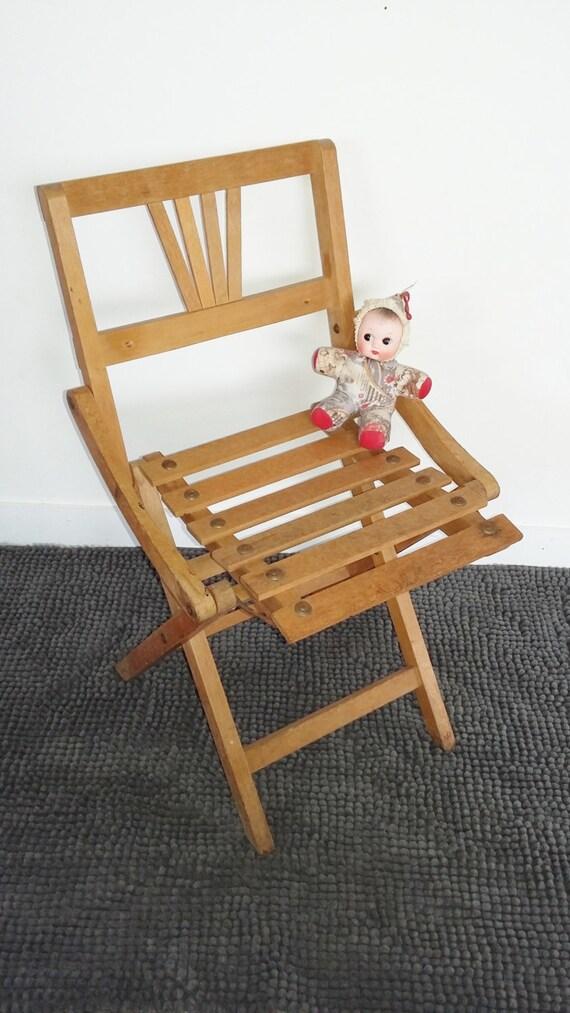 Chaise Pliante Enfant Vintage Annees 50