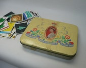 Collection of Vintage Original Memory Game Cards from 1970s Waddington Ravensburger 31 pairs in Vintage Tin