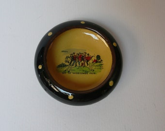 Off to Widecombe Fair Dish, pin dish, olive dish, Hand made and decorated, Studio Pottery Dish