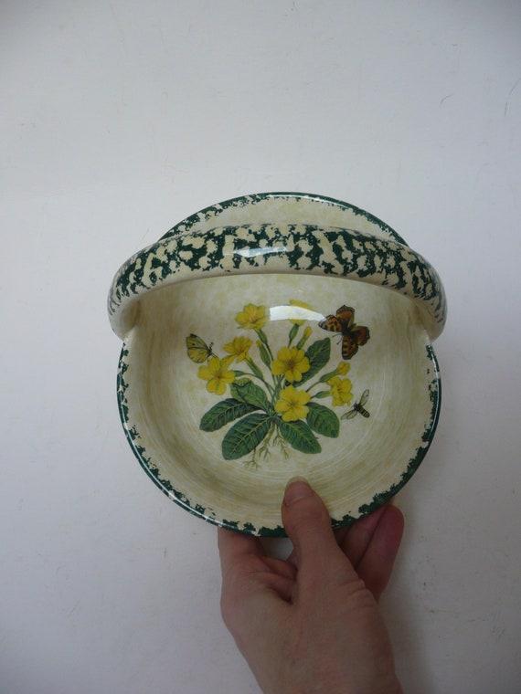 Ceramiche Bianconi Pietro.Vintage Ceramiche Bianconi Pietro Italian Made Pottery Bowl Fruit Flower Basket Hand Finished