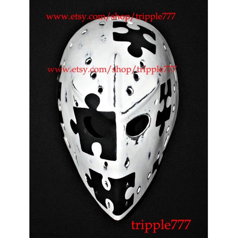 Rare Vintage Style Fiberglass Nhl Ice Hockey Goalie Face Mask Etsy