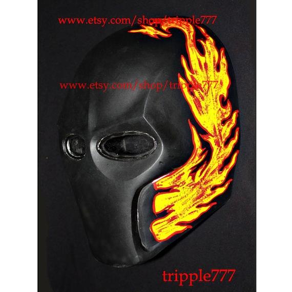 DJ Airsoft Mask BB Gun Paintball Helmet Outdoor Sports Halloween Costume Art Cosplay Flame MA10