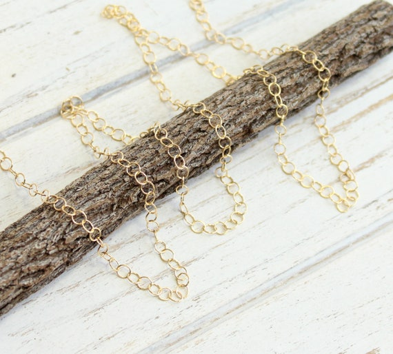 14Kt Gold Filled 3.5x2.5mm Flat Cable Chain 5360-5 1 5ft