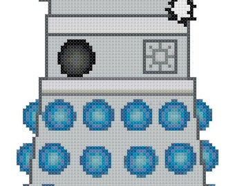 Doctor Who Christmas Dalek Cross Stitch Pattern