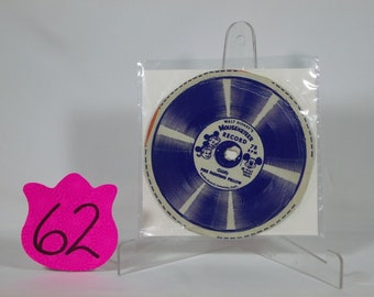 1950s W Disney Mouseketeer Record Fire Fighting Fellow By Goofy Cereal Box Premium 78rpm