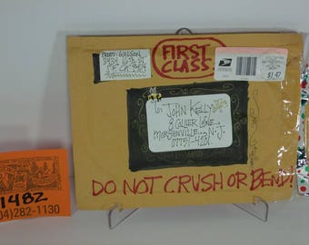 1980's S.Clay Wilson Custom Envelope for Artwork-Handmade