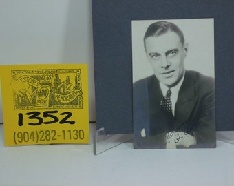 1930's Dr.Frankenstein /Colin Clive Photo Postcard and Autograph