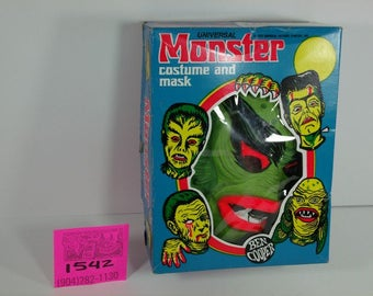 1960's Ben Cooper Creature Halloween Costume in Rare Monster box