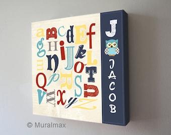 alphabet canvas etsy