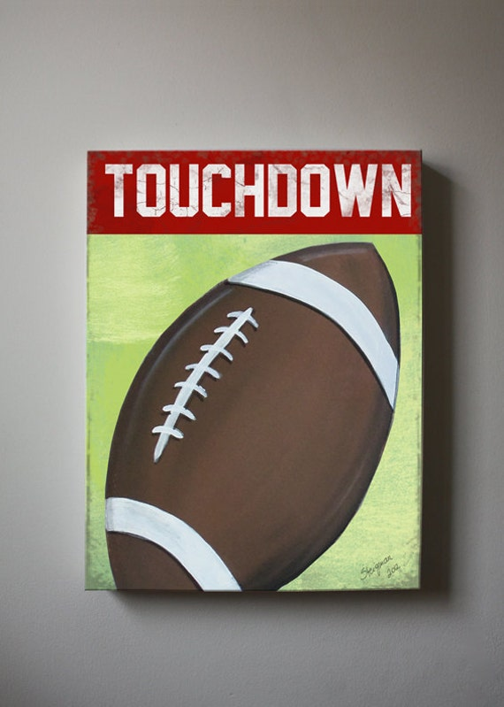 Amazing Football Canvas Wall Art Sports Nursery Art Baby Boys Room