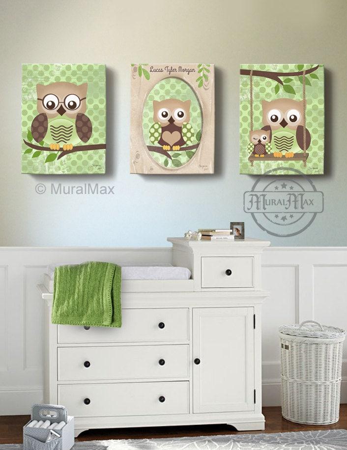 Owl Kids Art Owl Decor Art for children Owls Nursery Art ...