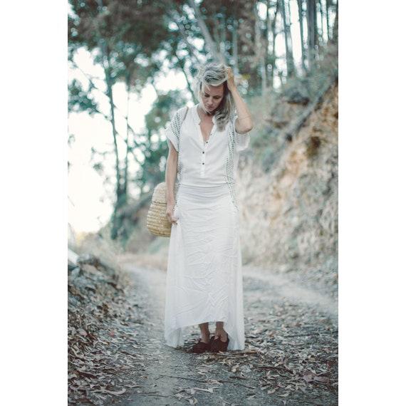 adjustable. dress women bridesmaid dress open back dress dress JAYNA Long pocket boho V neck maxi dress boho dress