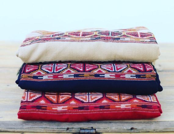 Ethnic print blanket scarf