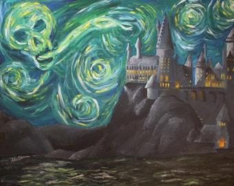 Harry Potter Starry Night Print