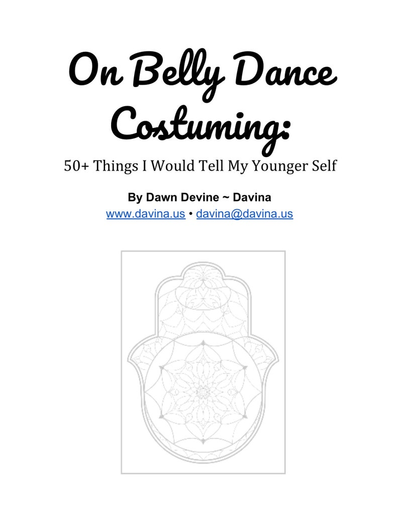 On Belly Dance Costuming: 50 Things I Would Tell My Younger image 0